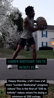 """Lumber bootcamp: 100 to infinity #3 Happy Monday, y'all! I owe y'all more """"Lumber Bootcamp"""" progress videos! This is the first of """"100 to Infinity"""" videos where I'm doing a minimum of 100 swings."""